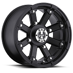 Vision 393 Lock Out ATV Wheels - 14 inch Matte Black