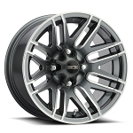 Vision 112 Assault 12 Inch ATV Wheels, Glossy Gunmetal Gray