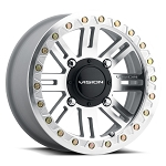 Vision 356BL Manx 2 Beadlock Wheels, 14 inch As-Cast Machined