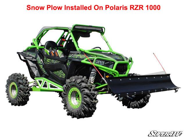 Super Atv Plow Pro Snow Plow For Polaris Rzr Xp 1000 Rzr 900
