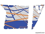 Super ATV Blue Fire Orange Door Graphic Kit
