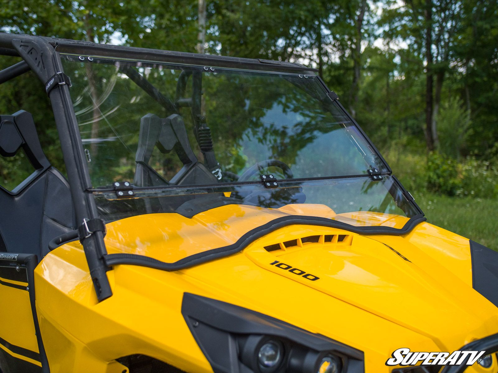 Super ATV Scratch Resistant Flip Down Windshield for Can-Am Commander
