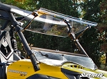 Super ATV Scratch Resistant Flip Windshield for Can-Am Commander