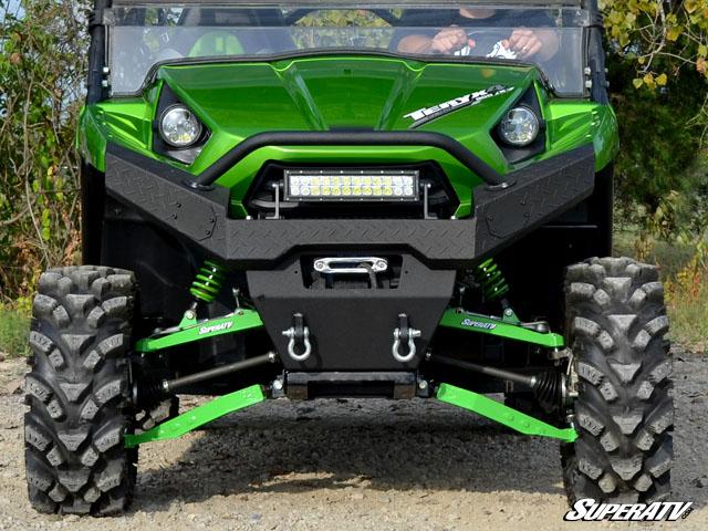 Super Atv Diamond Plate Front Bumper For Kawasaki Teryx