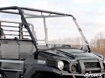 Super ATV Scratch Resistant Full Windshield for Kawasaki Mule Pro FXT