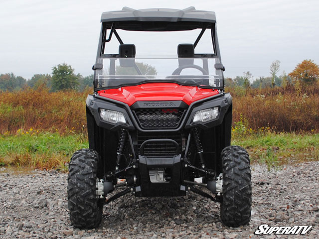Half Scratch Resistant Windshield For The Honda Pioneer
