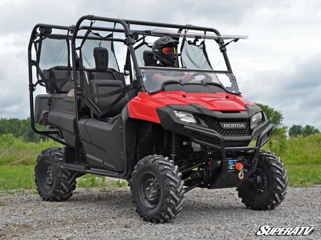 Scratch Resistant Flip Windshield For The Honda Pioneer