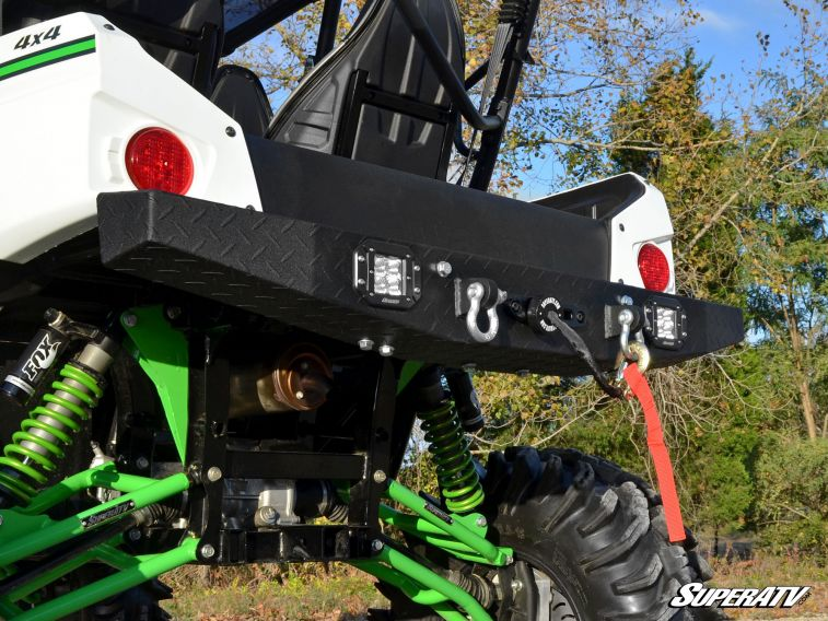 SuperATV Heavy Duty Winch Mounting Plate for Kawasaki Teryx//Teryx 4 2014+
