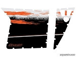 Super ATV Orange and White Door Graphic Kit