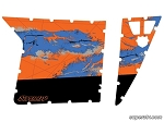 Super ATV Orange Madness-2013 Door Graphic Kit