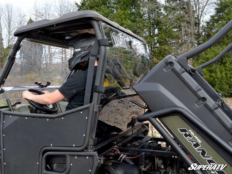 Super Atv Full Vented Rear Windshield For Polaris Ranger 800