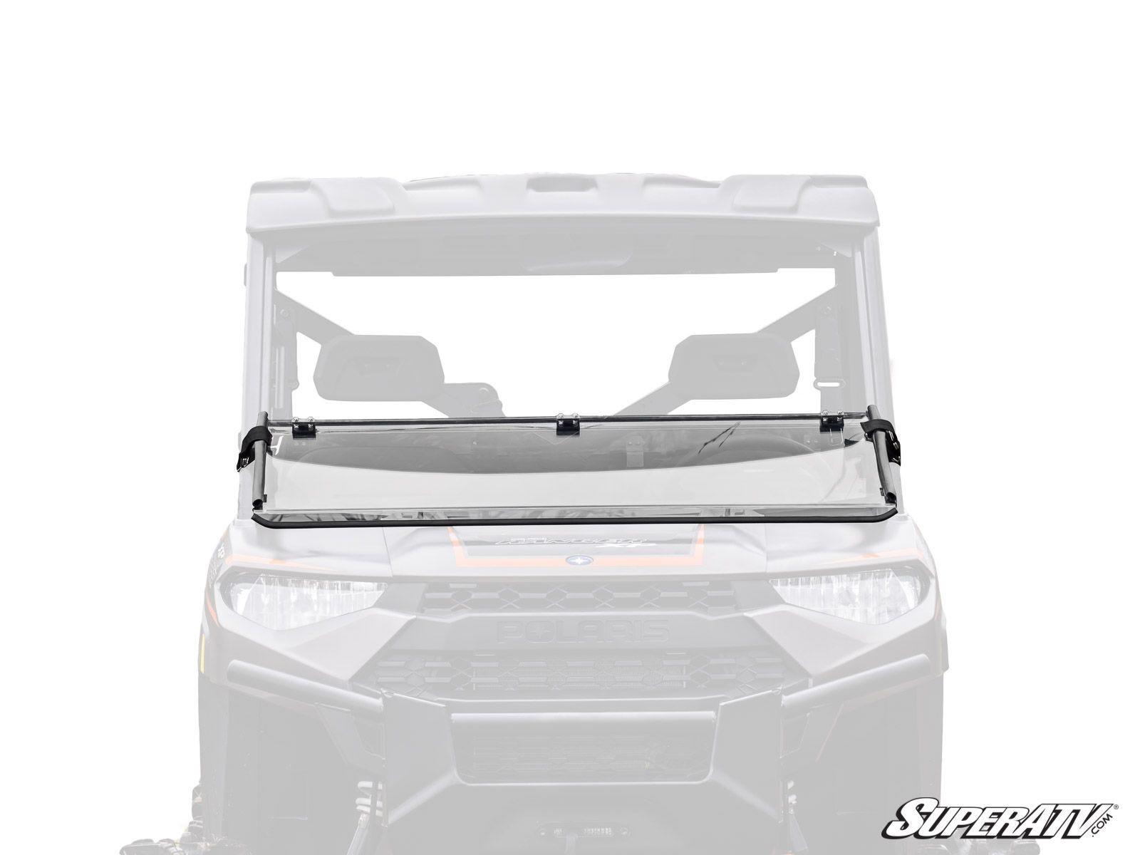super atv flip down scratch resistant windshield for. Black Bedroom Furniture Sets. Home Design Ideas