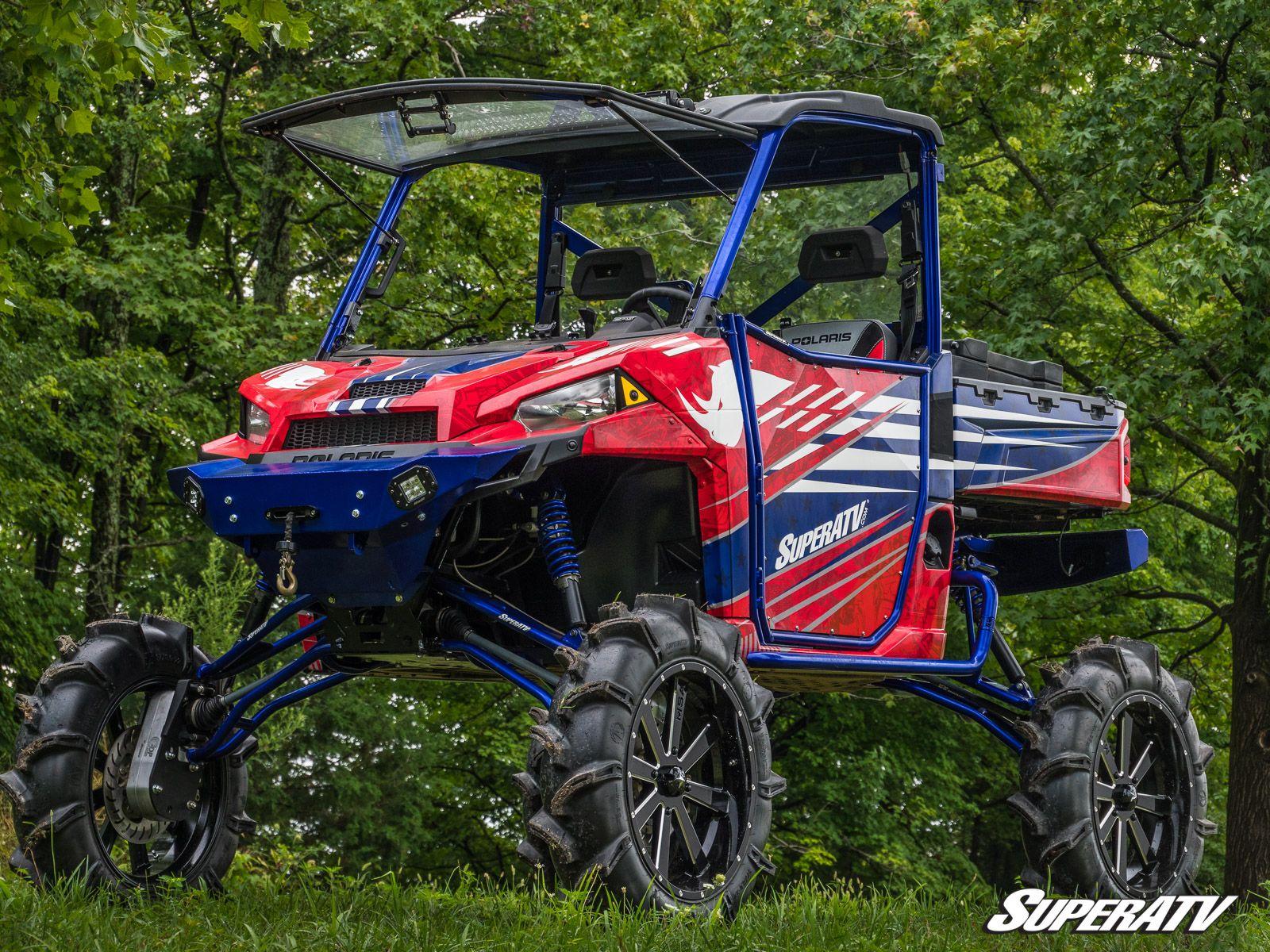 """2013+ SuperATV 1/"""" Aluminum Wheel Spacer for Polaris Ranger XP 900 Crew"""