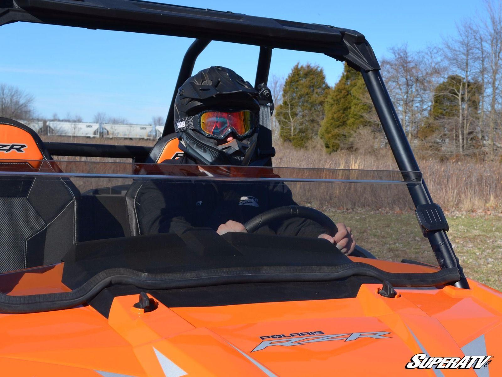 2018+ SuperATV Clear Scratch Resistant Half Windshield for Polaris Ranger 1000