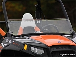 Super ATV Scratch Resistant Half Windshield for Polaris RZR