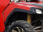 Super ATV Black Safari Fender Flares for Polaris RZR