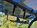 Super ATV 3 Panel Rear View Mirror with 1.5 Inch Clamps