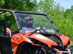 Super ATV Scratch Resistant Vented Full Windshield for Can-Am Maverick