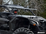 Super ATV Scratch Resistant Flip Windshield for Can-Am Maverick X3