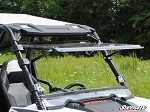 Super ATV Scratch Resistant Flip Windshield for Polaris RZR