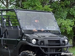 Super ATV Scratch Resistant Vented Full Windshield for Kawasaki Mule Pro FXT