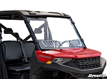 Super ATV Scratch Resistant Full Vented Windshield for Polaris Ranger 1000 Models