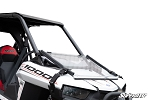 Super ATV Scratch Resistant Flip Down Windshield for Polaris RZR RS1