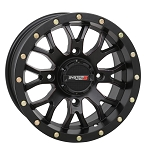 System 3 ST-3 15 Inch Wheels, Matte Black, 5+2 Offset (with optional mounted tires)