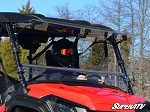 Super ATV Scratch Resistant Flip Windshield for Honda Pioneer 1000