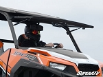 Super ATV Scratch Resistant Flip Windshield for Polaris General 1000