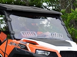 Super ATV Polaris General 1000 Scratch Resistant Vented Full Windshield