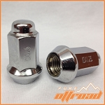 10x1.25 Beveled Lug Nuts, Chrome, 14mm Hex