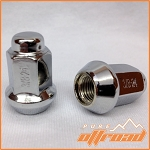 3/8x24 Beveled Lug Nuts, Chrome, 14mm Hex