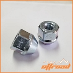 3/8x24 Tapered Open End Lug Nuts, 19mm Hex