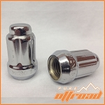 12x1.5 Beveled Spline Drive Lug Nuts, Chrome