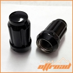 12x1.5 Beveled Spline Drive Lug Nuts, Black