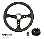 DragonFire Racing Quick Release Sport V Vinyl Steering Wheel Kit
