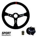 DragonFire Racing Quick Release Suede Sport Steering Wheel Kit