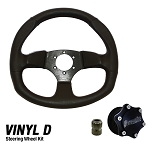 DragonFire Racing Quick Release Vinyl D Shape Steering Wheel Kit