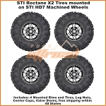 STI Roctane X2 Tires on STI HD7 Machined Wheels, Complete Tire and Wheel Kit