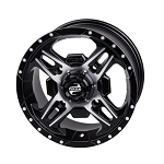 Tusk Beartooth 14 Inch Wheels, Machined, 4+3 Offset