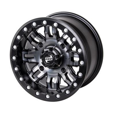 4//137 Tusk Teton Beadlock Wheel 14x7 5.0 2.0 Machined//Black for Honda Pioneer 1000-5 2016-2018