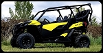 UTVMA Back Seat and Roll Cage Kit for Can-Am Maverick Trail