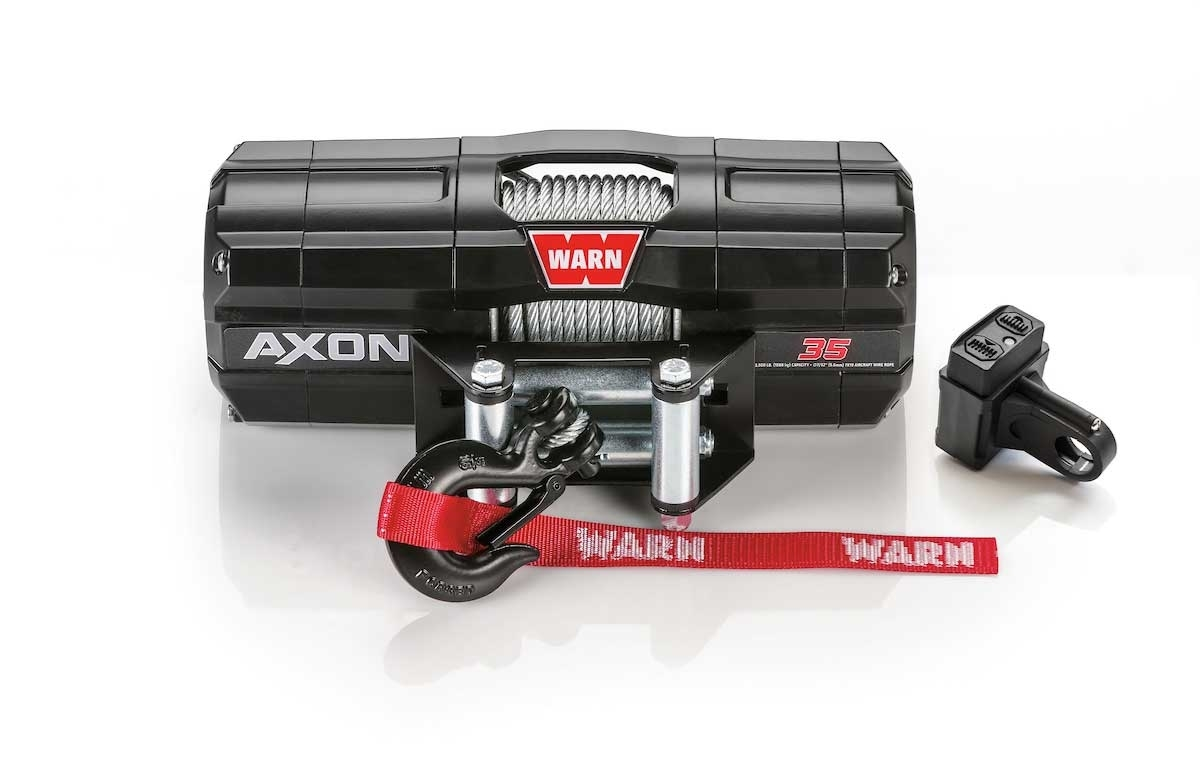 Warn Axon 3 500 Lb Winch With Wire Rope