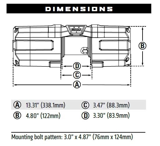 warn axon 3,500 lb winch with synthetic rope warn solenoid wiring diagram  warn axon 3500 s