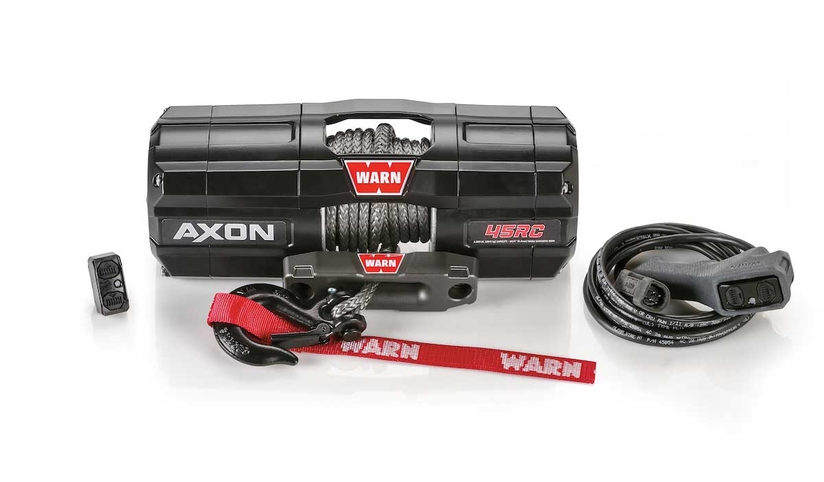 Warn Axon 4500lb Rc Winch With Synthetic Rope