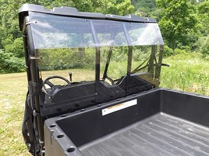 Rear Windshield (Clear or Tinted) for (2009+) Polaris Ranger by Dot Weld