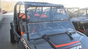 Two Piece Split Windshield (Clear or Tinted) for Polaris RZR XP1000 / RZR 900 / XP Turbo by Dot Weld