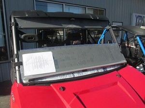 Half Windshield (Clear or Tinted) for (2012-2013) Polaris Ranger 900 XP by Dot Weld