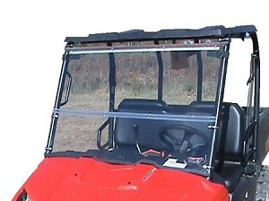 Fold Down Windshield (Clear or Tinted) for Mid Size Polaris Ranger by Dot Weld